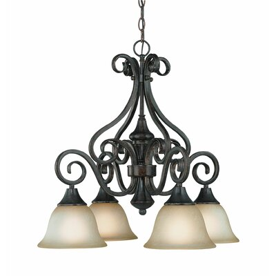 Torrey 4-Light Shaded Chandelier