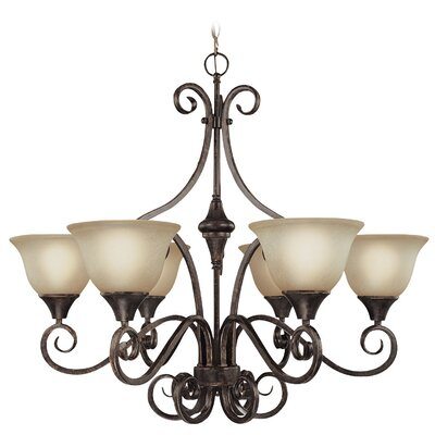 Torrey 6-Light Shaded Chandelier