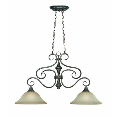 Torrey 2-Light Shaded Chandelier