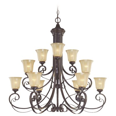 Wilhoit 12-Light Shaded Chandelier