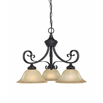 Wilhoit 3-Light Shaded Chandelier