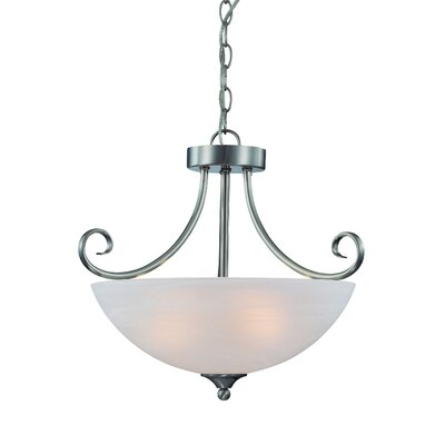Ora 3-Light Mini Inverted Pendant Finish: Satin Nickel wtih White Faux Alabaster