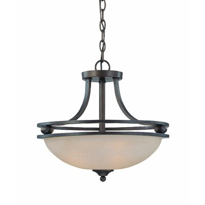 Moseley 3-Light Semi Flush Mount