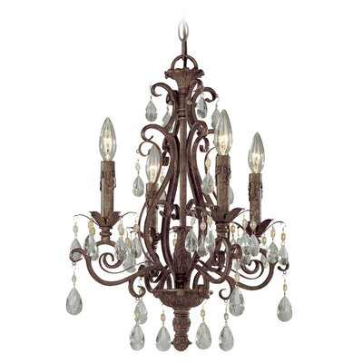 Lilliane 4-Light Crystal Chandelier