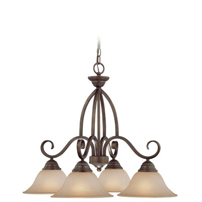 Charter Oak 4-Light Shaded Chandelier