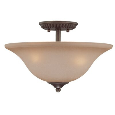 Charter Oak 3-Light Semi Flush Mount