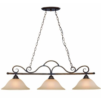 Charter Oak Bowl Shade 3-Light Pendant