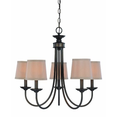 Kissinger 5-Light Shaded Chandelier Finish: Bronze