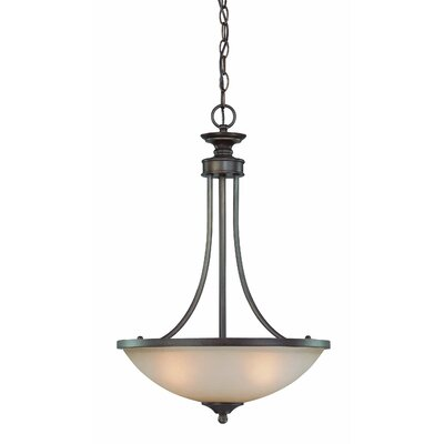 Kissinger 3-Light Inverted Pendant Glass Type: White