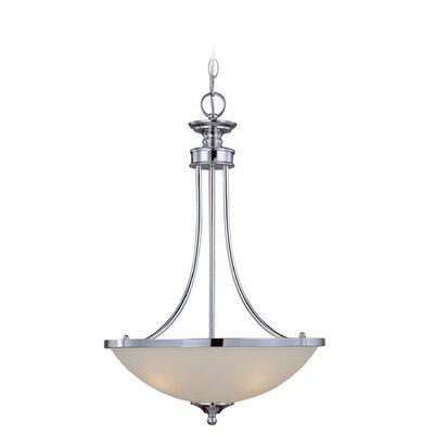 Kissinger 3-Light Bowl Shade Inverted Pendant