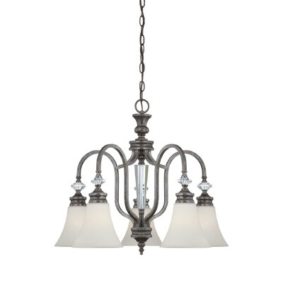 Lapierre 5-Light Shaded Chandelier Glass Type: Clear