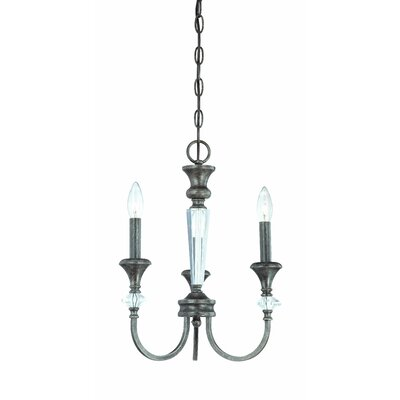 Boulevard 3-Light Candle-Style Chandelier