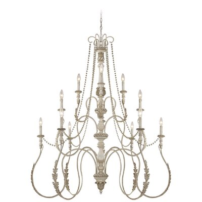 Zoe 12-Light Candle-Style Chandelier