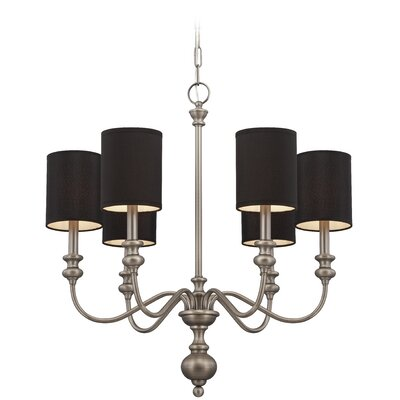 Stanmore 6-Light Semi Flush Mount Finish: Antique Nickel/Black