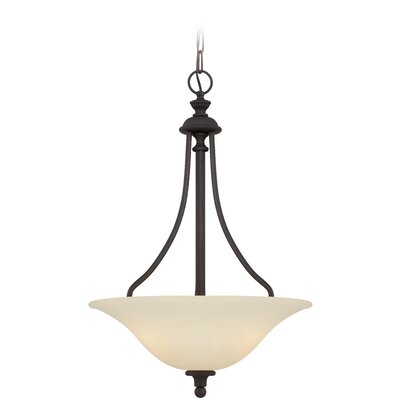 Callendale 3-Light Inverted Pendant Finish: Gothic Bronze