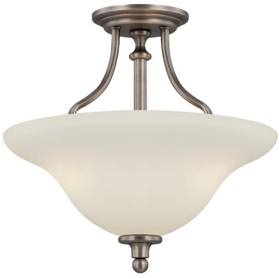 Callendale 3-Light Semi Flush Mount Finish: Antique Nickel