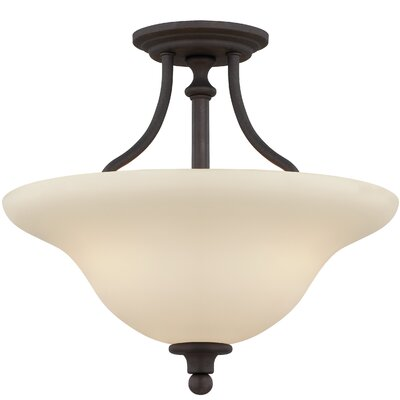 Callendale 3-Light Semi Flush Mount Finish: Gothic Bronze