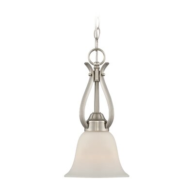 Pottersmoor 1-Light Mini Pendant Finish: Brushed Polished Nickel, Glass Type: White