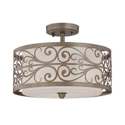 Worthington 3-Light Semi Flush Mount