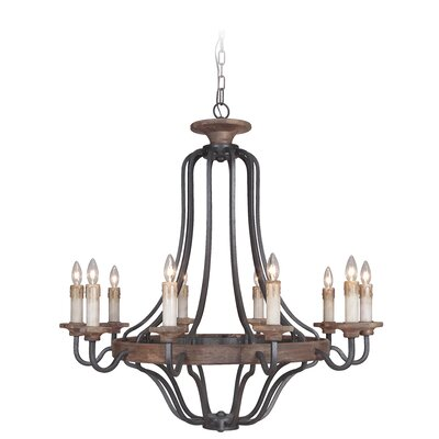 Ashwood 10-Light Candle-Style Chandelier