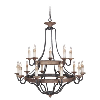 Ashwood 15-Light Candle-Style Chandelier