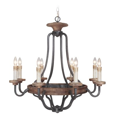 Elisabetta 8-Light Candle-Style Chandelier