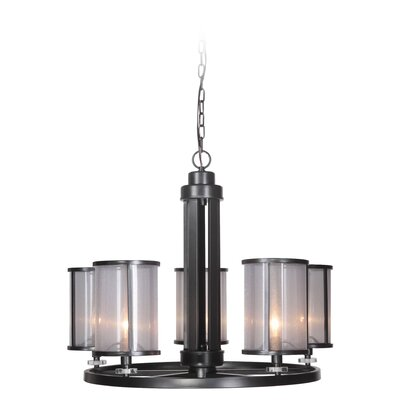 Elmer 5-Light Shaded Chandelier