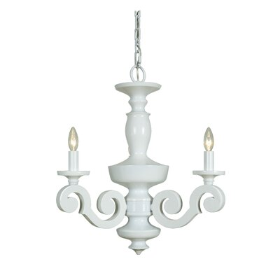 Aris 3-Light Candle-Style Chandelier