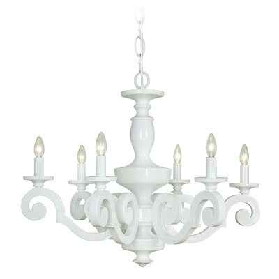 Atelier 6-Light Candle-Style Chandelier