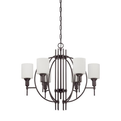 Meridian 6-Light Shaded Chandelier Finish: Espresso