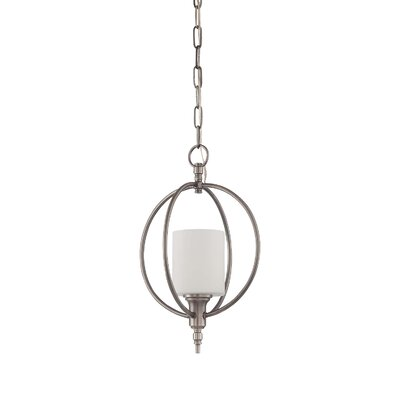 Brocka 1-Light Foyer Pendant Finish: Antique Nickel