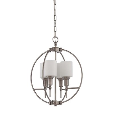 Brocka 4-Light Foyer Pendant Finish: Antique Nickel