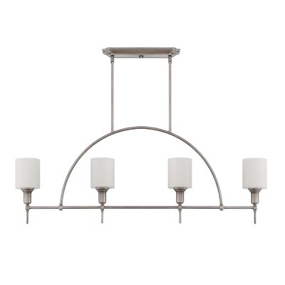Brocka 4-Light Kitchen Island Pendant Finish: Antique Nickel
