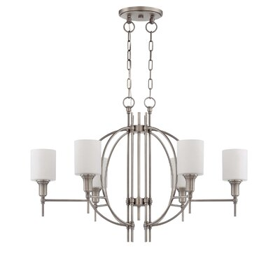 Brocka 6-Light Shaded Chandelier Finish: Antique Nickel