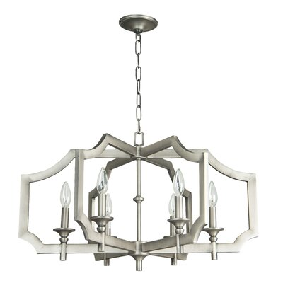Rahul 6-Light Foyer Pendant Finish: Antique Nickel, Size: 16.75 H x 27 W