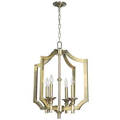 Rahul 4-Light Foyer Pendant Size: 19.5 H x 15 W, Finish: Legacy Brass