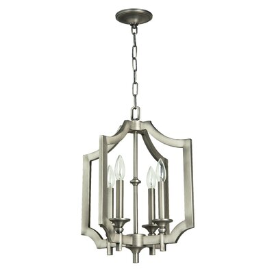 Rahul 4-Light Foyer Pendant Finish: Antique Nickel, Size: 26.31 H x 20.87 W