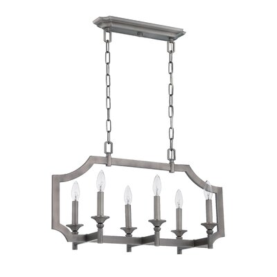 Rahul 6-Light Kitchen Island Pendant Finish: Antique Nickel