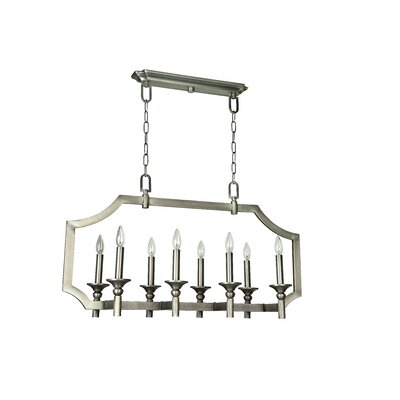Rahul 8-Light Kitchen Island Pendant Finish: Antique Nickel