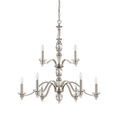 Laurent 9-Light Candle-Style Chandelier