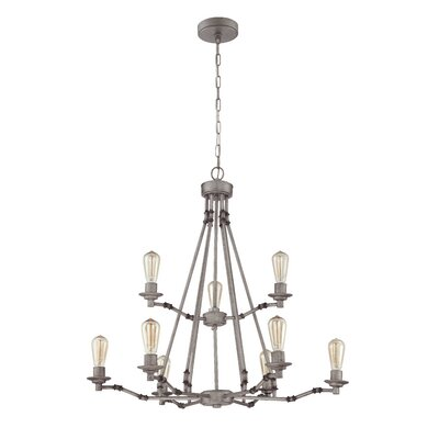 Hadley 9-Light Candle-Style Chandelier Finish: Aged Galvantized