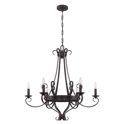 Ellsworth 6-Light Candle-Style Chandelier