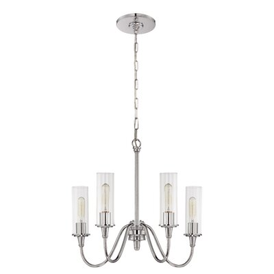 Eunice 4-Light Shaded Chandelier Finish: Chrome