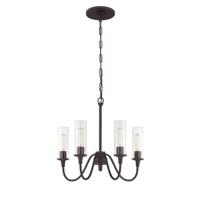 Eunice 4-Light Shaded Chandelier Finish: Espresso