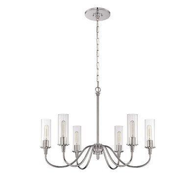 Eunice 6-Light Candle-Style Chandelier Finish: Chrome