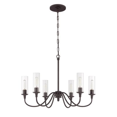 Eunice 6-Light Candle-Style Chandelier Finish: Espresso