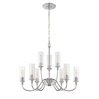 Eunice 9-Light Candle-Style Chandelier Finish: Chrome