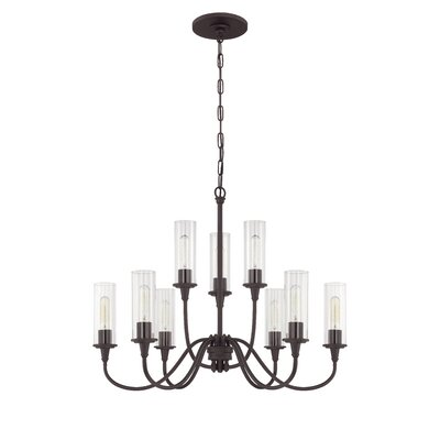Eunice 9-Light Candle-Style Chandelier Finish: Espresso