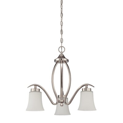 Grampian 3-Light Shaded Chandelier Finish: Satin Nickel