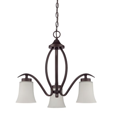 Grampian 3-Light Shaded Chandelier Finish: Aged Bronze Brushed